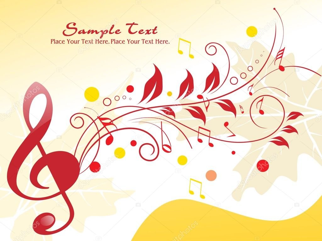 music notes backgrounds floral - photo #9