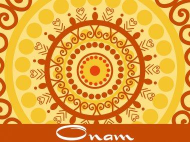 Onam background with artwork