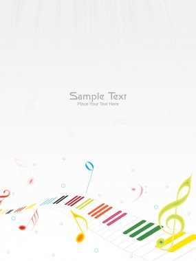 Vector illustration of music background