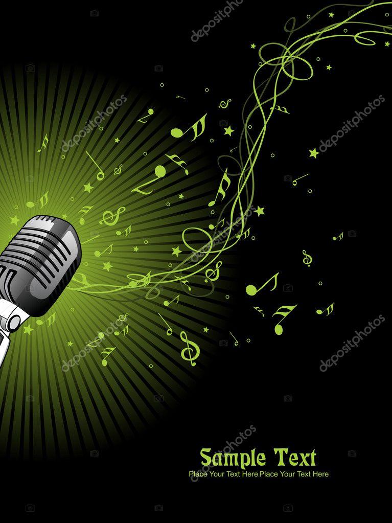 Müzik Arka Plan Vektör çizim Stok Vektör Alliesinteract 3839519
