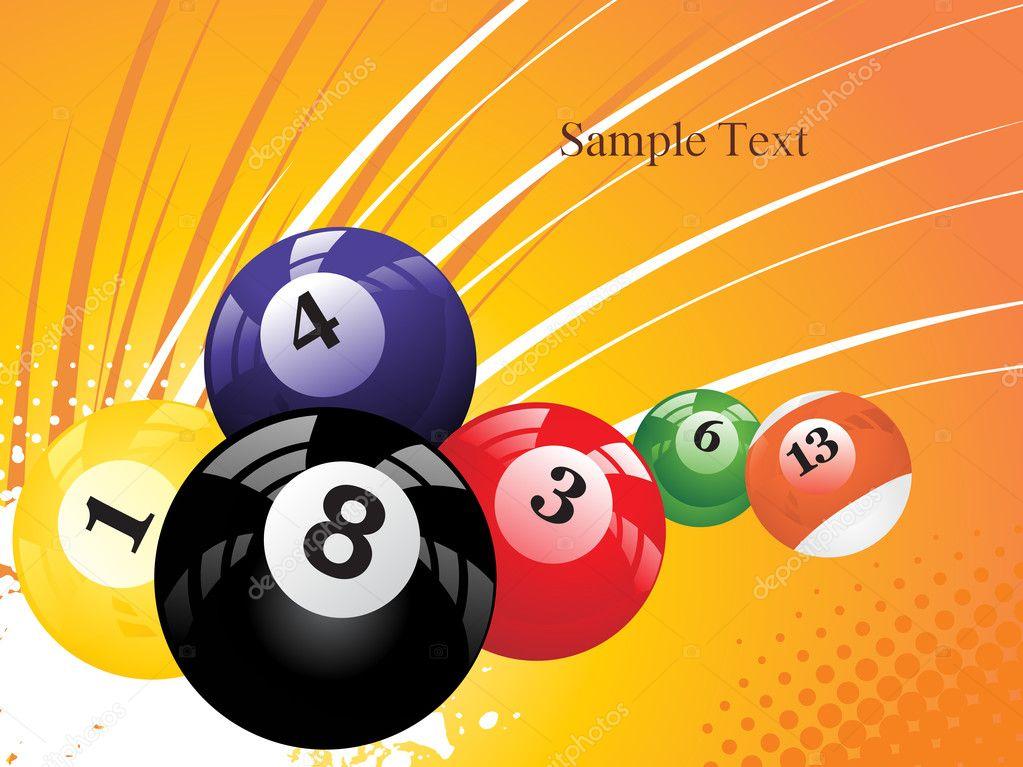 Vector Deportes Bolas Patrón De Fondo: Fondo Con Las Bolas De Colores Boilliard