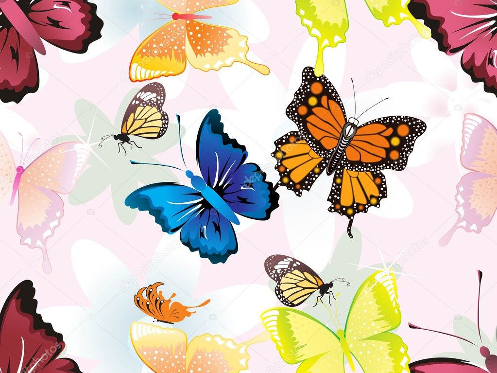 Colorful Butterfly Wallpaper Colorful Butterfly Pattern