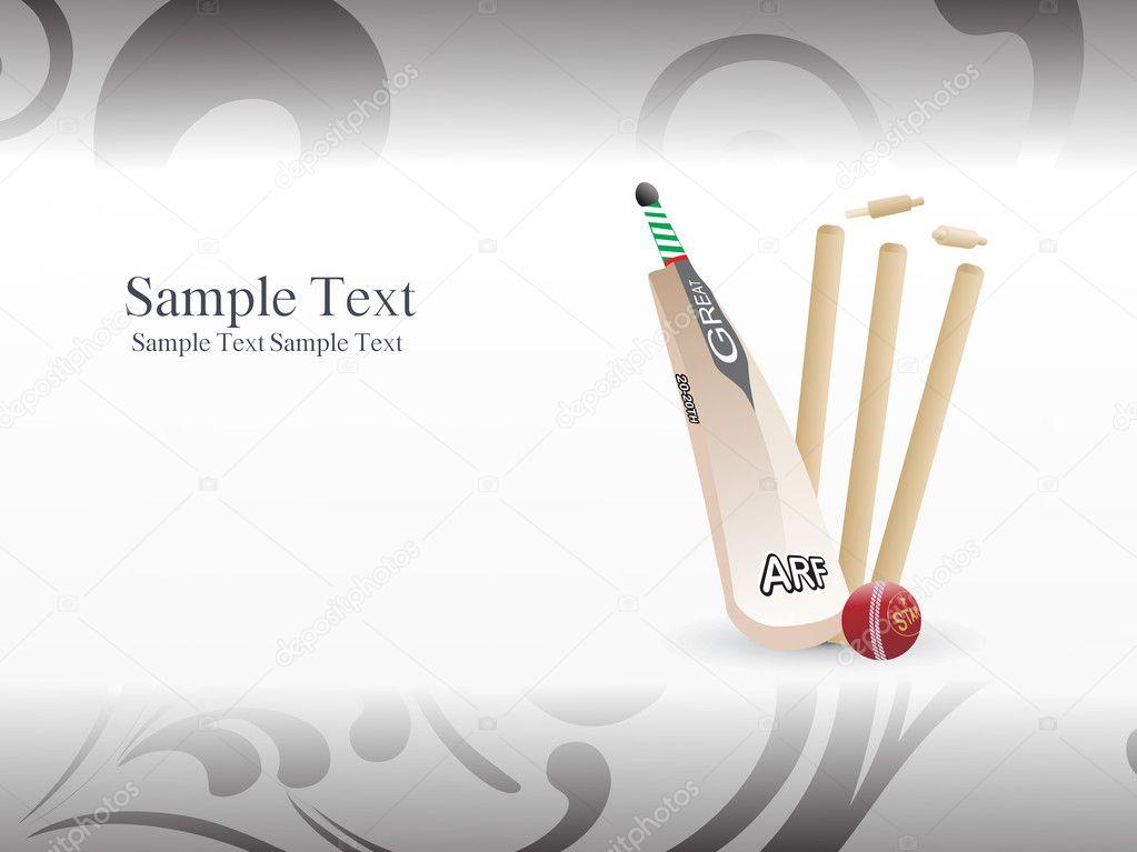 Cricket Vector Background Stock Image: Illustration Of Cricket Background