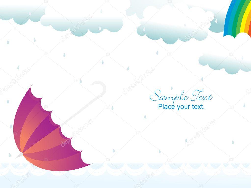 Abstract rainy background, illustration