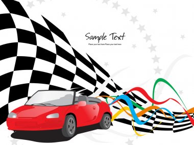 Vector sport race background