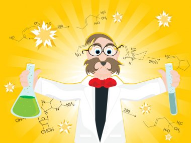 Science research background with scientist
