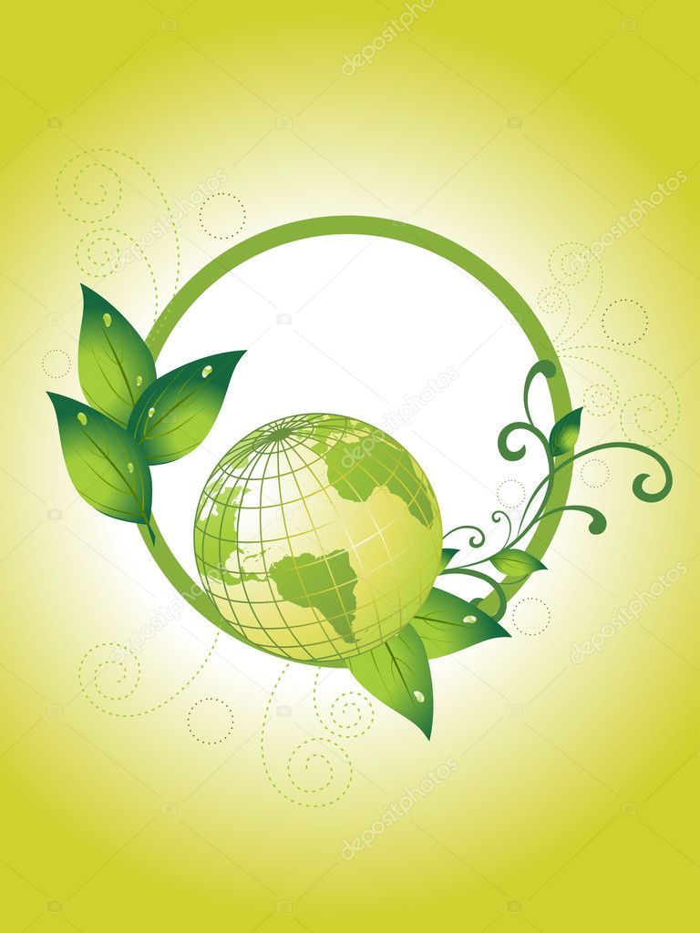 Background with ecology design frame