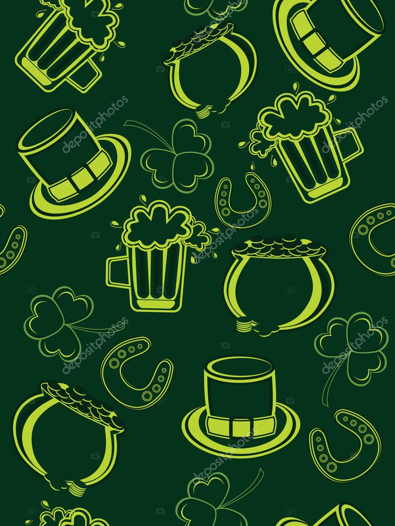 Seamless pattern background for patrick day