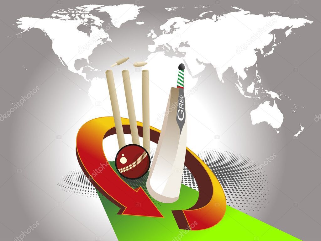 Stock Illustration Vector Illustration Of Cricket Background