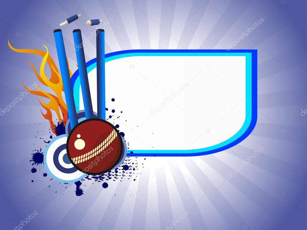 Vector Illustration Of Cricket Background Stock Vector
