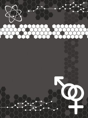 atomic structure, male female symbol