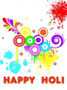 Colorful background for holi celebration stock vector