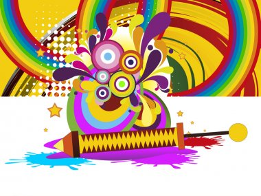 Abstract colorful artwork background for happy holi celebration stock vector