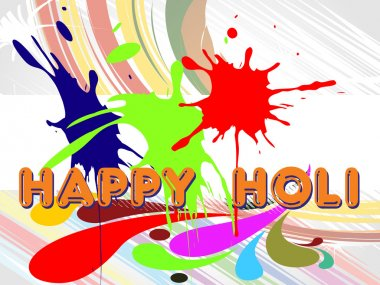 Abstarct colorful grunge background for holi, vector illustration stock vector