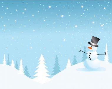 Vector snowman card for christmas