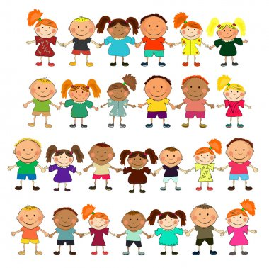 Vector happy kids. clip art vector