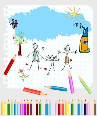 Childlike drawing