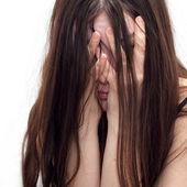 dívka v zoufalství