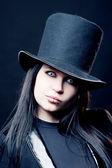 der viktorianische Zauberer, das Mädchen im Zylinder