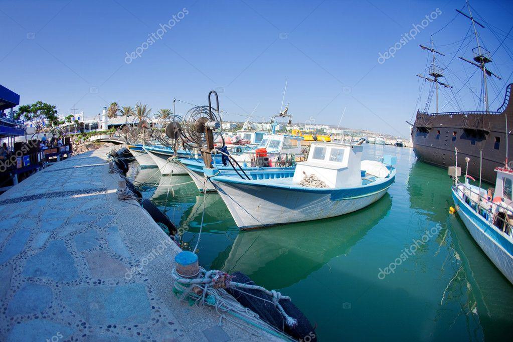 Fishing boats at a port