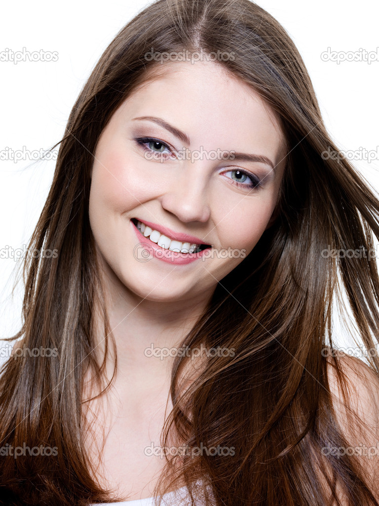 Beautiful Smiling Young Woman Stock Photo - Image of