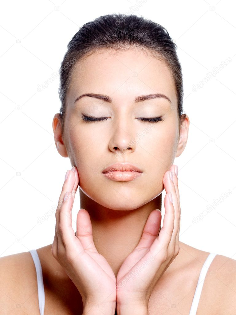 Closing eyes woman's face — Stock Photo © valuavitaly #3840734