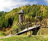 Photo Ancient wooden fortification