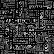architecture vector letter collection wordcloud illustration