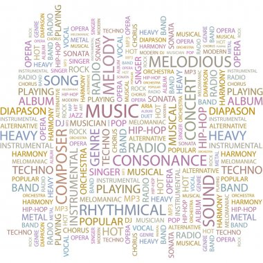 MUSIC. Vector letter collection