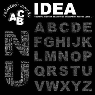 IDEA. Vector letter collection.