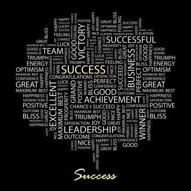 SUCCESS. Word collage.