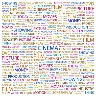 CINEMA. Word collage on white background