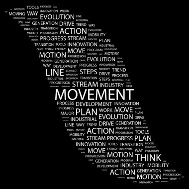 MOVEMENT. Word collage