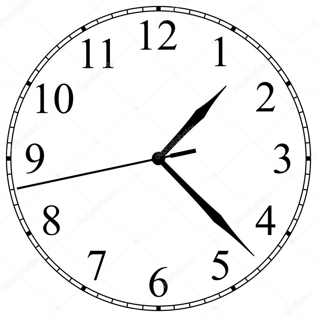 worksheet Clock Face clock face stock vector okeen 2699985 with arabic numerals and hand by okeen