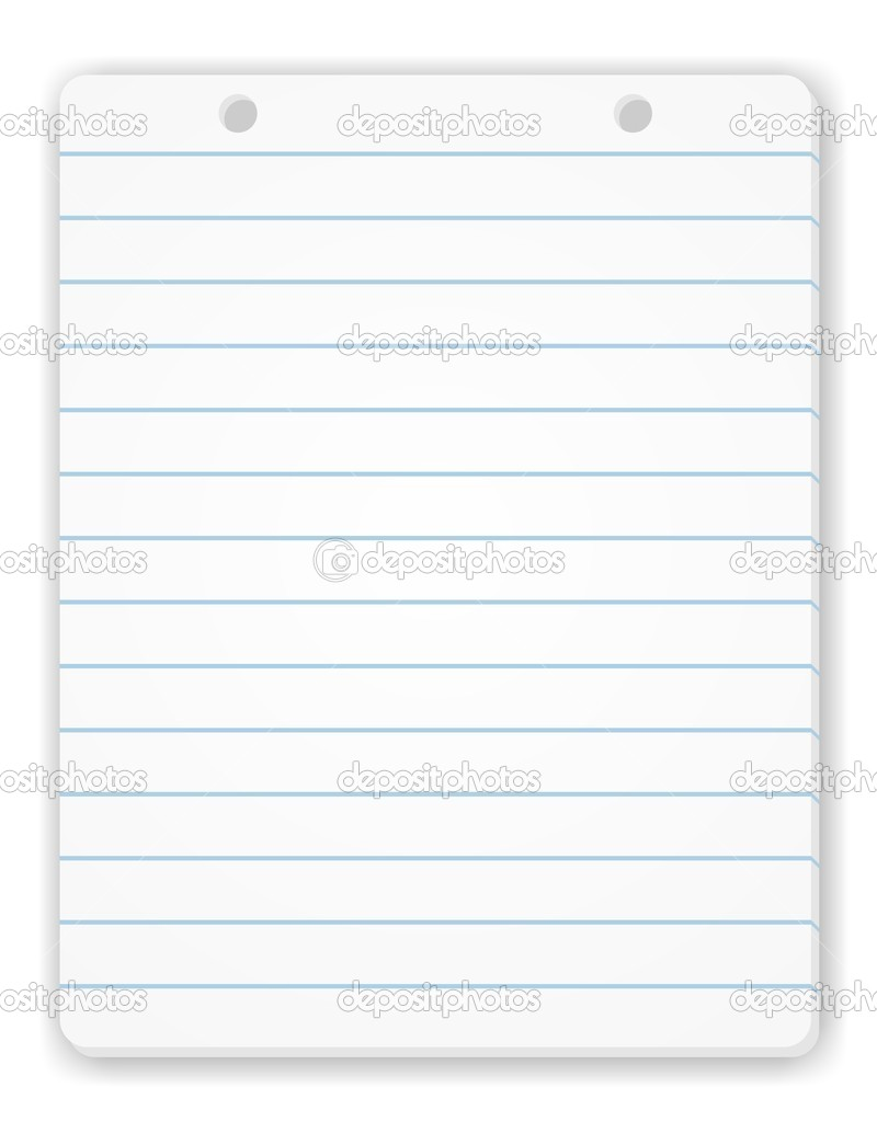 Notepad Page Stock Photo C Okeen 2740590