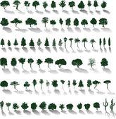 vektor stromy se stíny