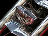 Fotografia faro anteriore della moto di lusso