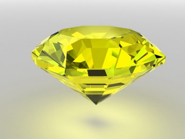 Yellow diamond with soft shadows