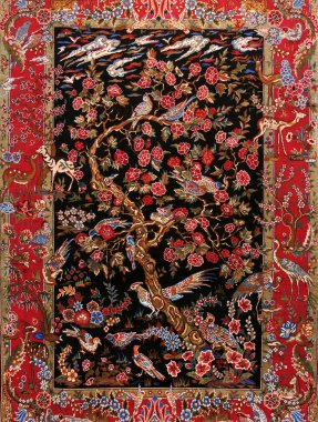 Background Turkish silk carpet