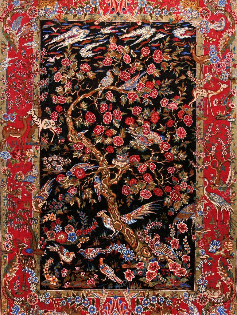 Background Turkish silk carpet