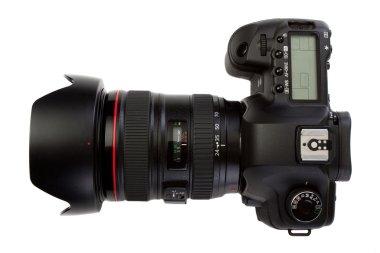 Dslr photocamera isolated on white