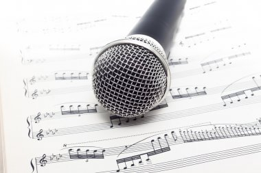 Microphone and classical music of Tchaikovsky