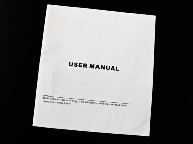 User manual guide brochure