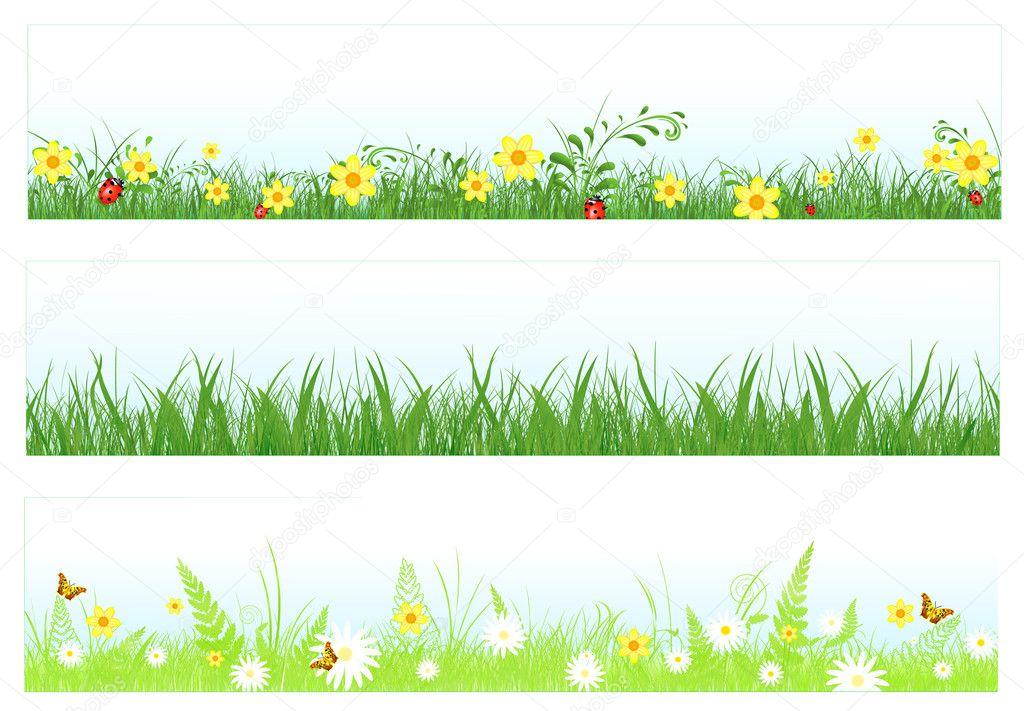 Grass web banners