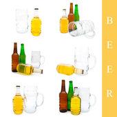 set bottiglia di birra