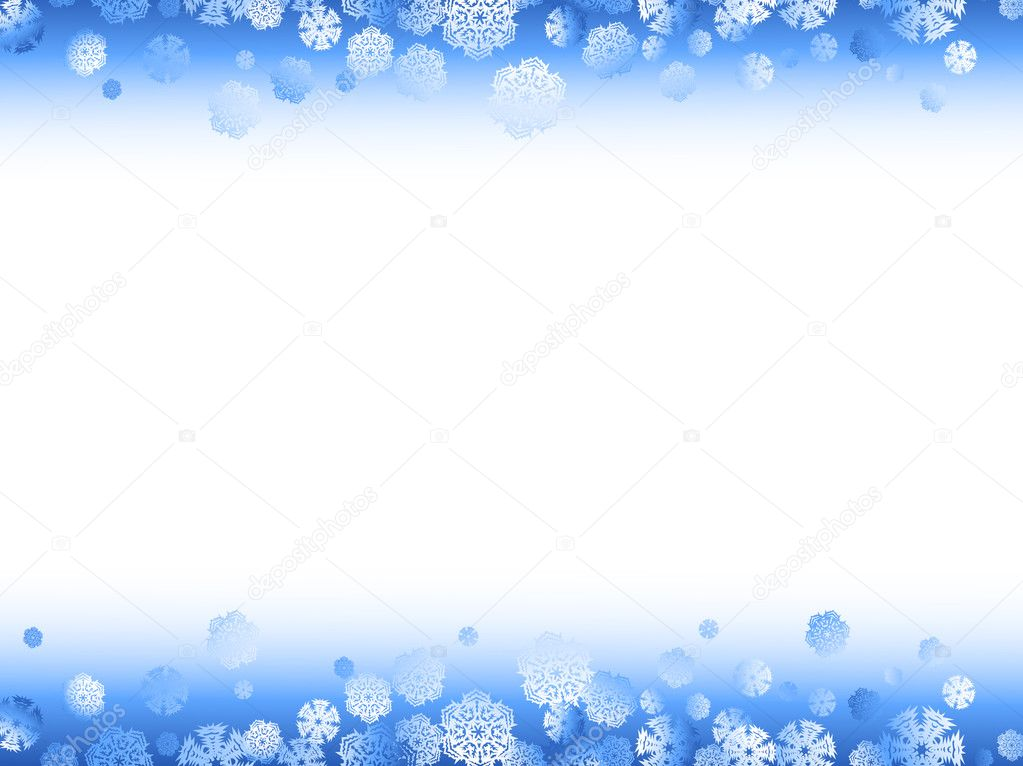 winter frame met sneeuwvlokken — Stockvector © S_Razvodovskij #3738328
