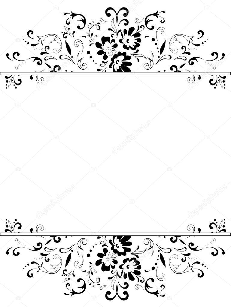 marco floral vintage vertical — Archivo Imágenes Vectoriales ...