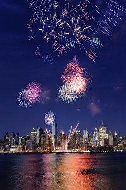 Firework over newyork city