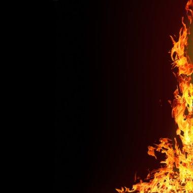 """Картина, постер, плакат, фотообои """"изолированные пламени задний"""", артикул 3196891"""