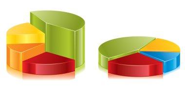 Set of colorful vector circular diagrams